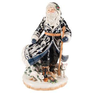 Fitz & Floyd Santa im blauen Mantel 47,5 cm