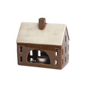 Goebel Windlicht Haus braun 16,5 cm
