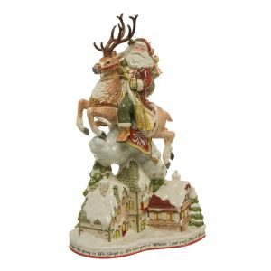Fitz & Floyd Santa mit Häusern 47 cm