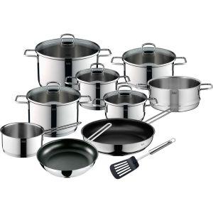 Silit Kochgeschirr-Set 10-teilig Alicante (5 Töpfe, 1 Stielkasserolle, 1 Dämpfereinsatz, 2 Pfannen, 1 Pfannenwender)