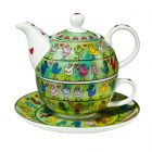 """Goebel James Rizzi Tea for One """"Birds in a Love Wire"""""""