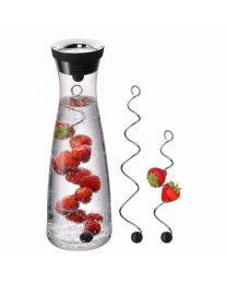 WMF Basic Wasserkaraffe 1,0l mit 2 Fruchtspießen