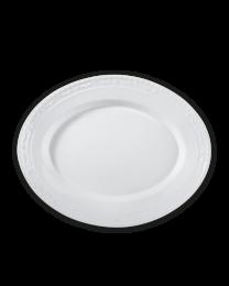 KPM Berlin Kurland weiß Platte oval groß