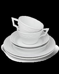 KPM Berlin Kurland weiß Teatime-Set 6-tlg.