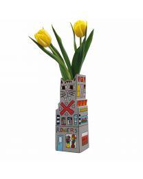 "Goebel James Rizzi Vase ""Cat a Flower"""