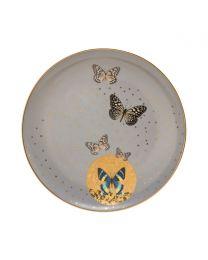 Goebel Joanna Charlotte Frühstücksteller 22,5 cm Grey Butterflies