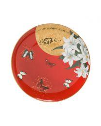 Goebel Joanna Charlotte Frühstücksteller 22,5 cm Lilies Red