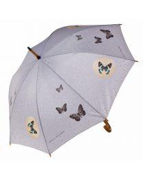 Goebel Stockschirm Grey Butterflies