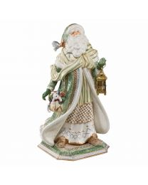 Goebel Fitz & Floyd Figur Santa im grünen Mantel