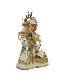 Goebel Fitz & Floyd Figur Santa mit Häusern