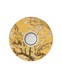 Goebel Vincent van Gogh Künstlerteelicht Mandelbaum gold