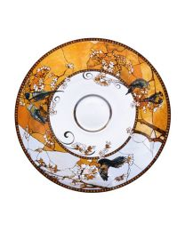 Goebel Tiffany Schale 35,5 cm Sittiche