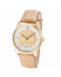 Rosenthal Damen-Armbanduhr Magic Garden gold-gold-brown