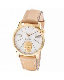 Rosenthal Damen-Armbanduhr Rock'n'Skull gold-gold-brown