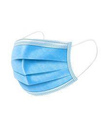 50 Stck. MNS Atemmaske aus Vliesstoff, 100% Polypropylene, 3-lagig, blau, mit Ohrschlaufen
