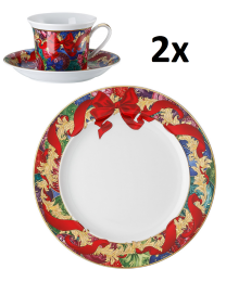 Rosenthal Versace Reflections of Holidays Kaffee-Set für 2 Personen