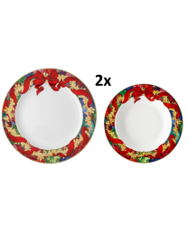 Rosenthal Versace Reflections of Holidays Speise-Set für 2 Personen