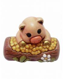 THUN Klassische Krippe Schweinchen mit Futterkrippe natur